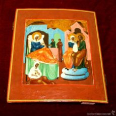 Arte: J1-022. ICONO BIZANTINO. SAN JOAQUIN Y SANTA ANA(?). ESCUELA GRIEGA O RUSA. XVI(?). Lote 57085943