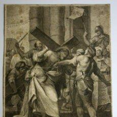 Arte: STAZIONE II. GRABADO. CALCOGRAPHIA L. WAGNER. ORIGINAL G.B.CROSATTO.VENECIA 1779. Lote 57184461