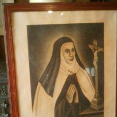 Arte: DIBUJO A CARBONCILLO ENMARCADO 1948 FIRMADO DANIEL H. PUERTAS - S. ANA DE SAN BARTOLOMÉ. Lote 169167769