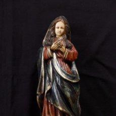 Arte: VIRGEN INDO- PORTUGUESA (GOA). MADERA Y MARFIL O HUESO.. Lote 57216885