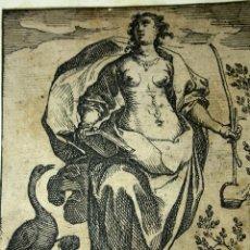 Arte: VIGILANTIA. GRABADO SOBRE PAPEL. RAPHAEL SADELER. ANTWERPEN.(?) 1605. Lote 57258578