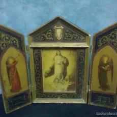 Arte: TRIPTICO RELIGIOSO VIRGEN INMACULADA. Lote 57258741