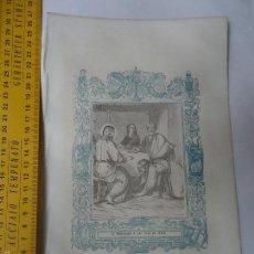 Arte: REF: KK - AÑO 1867 ORIGINAL GRABADO DE LA EPOCA RELIGIOSO - LA MAGDALENA A LOS PIES DE JESUS, CRISTO. Lote 57264060