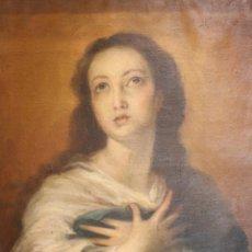 Arte: MAJESTUOSA PINTURA DE LA INMACULADA CONCEPCIÓN DE MURILLO - OLEO SOBRE LIENZO - XVIII - 98X73 CM - . Lote 57274082