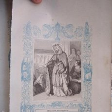 Arte: REF: KK - AÑO 1862 ORIGINAL GRABADO DE LA EPOCA RELIGIOSO - SANTA OROSIA VIRGEN Y MARTIR . Lote 57274101
