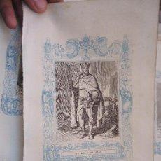 Arte: REF: KK - AÑO 1862 ORIGINAL GRABADO DE LA EPOCA RELIGIOSO - SAN FERNANDO REY DE ESPAÑA. Lote 57274451