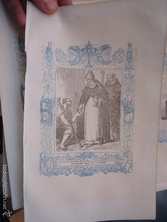 REF: KK - AÑO 1862 ORIGINAL GRABADO DE LA EPOCA RELIGIOSO - SAN ANTONINO ARZOBISPO DE FLORENCIA (Arte - Arte Religioso - Grabados)