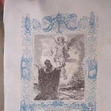 Arte: REF: KK - AÑO 1862 ORIGINAL GRABADO DE LA EPOCA RELIGIOSO - LA APARICION DE SAN MIGUEL ARCANGEL. Lote 57274704