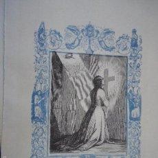 Arte: REF: KK - AÑO 1861 ORIGINAL GRABADO DE LA EPOCA RELIGIOSO - SANTA LEOCADIA VIRGEN Y MARTIR. Lote 57276989