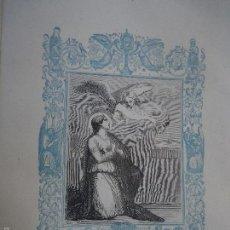 Arte: REF: KK - AÑO 1861 ORIGINAL GRABADO DE LA EPOCA RELIGIOSO - SANTA NATALIA VIUDA. Lote 57277049