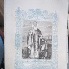 Arte: REF: KK - AÑO 1861 ORIGINAL GRABADO DE LA EPOCA RELIGIOSO - SAN CLEMENTE PAPA Y MARTIR. Lote 57277105