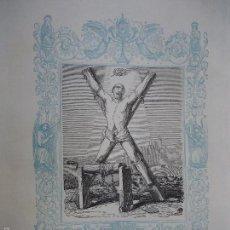 Arte: REF: KK - AÑO 1861 ORIGINAL GRABADO DE LA EPOCA RELIGIOSO - SAN SERAPIO MARTIR. Lote 57277182