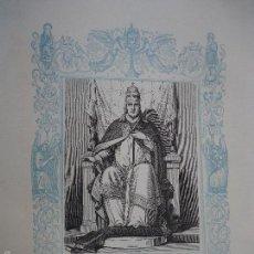 Arte: REF: KK - AÑO 1861 ORIGINAL GRABADO DE LA EPOCA RELIGIOSO - SAN MARTIN , PAPA Y MARTIR. Lote 57277205