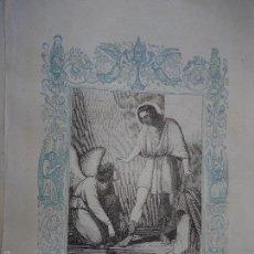 Arte: REF: KK - AÑO 1861 ORIGINAL GRABADO DE LA EPOCA RELIGIOSO - SAN QUINTIN MARTIR. Lote 57277301