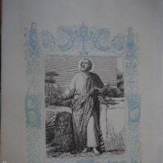 Arte: REF: KK - AÑO 1861 ORIGINAL GRABADO DE LA EPOCA RELIGIOSO - SAN LUCAS EVANGELISTA. Lote 57277434