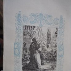 Arte: REF: KK - AÑO 1861 ORIGINAL GRABADO DE LA EPOCA RELIGIOSO - NUESTRA SEÑORA LA VIRGEN DEL PILAR. Lote 57277495