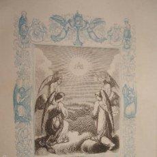 Arte: REF: KK - AÑO 1862 ORIGINAL GRABADO DE LA EPOCA RELIGIOSO - JHS EL DULCE NOMBRE DE JESUS. Lote 57281997
