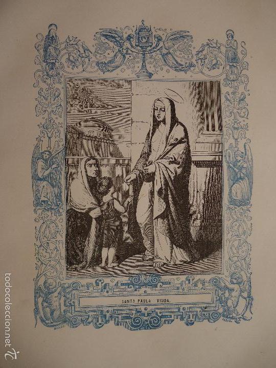 REF: KK - AÑO 1862 ORIGINAL GRABADO DE LA EPOCA RELIGIOSO - SANTA PAULA - VIUDA (Arte - Arte Religioso - Grabados)