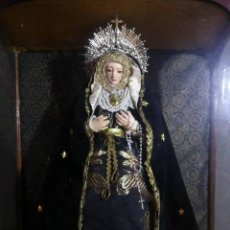 Arte: VIRGEN DOLOROSA. ATRIBUIDA A CRISTÓBAL RAMOS, S. XVIII. BARRO COCIDO SOLO VIRGEN. Lote 57294962
