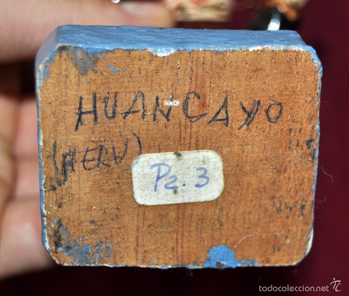 Arte: CURIOSA IMAGEN DE LA VIRGEN DE HUANCAYO (PERU) EN MADERA POLICROMADA - Foto 6 - 57299314