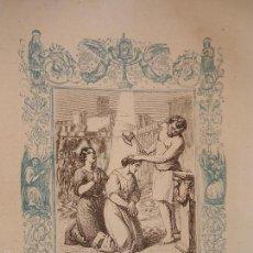 Arte: REF: KK - AÑO 1863 ORIGINAL GRABADO DE LA EPOCA RELIGIOSO - SANTA AMALIA Y RUFINA HERMANAS MARTIRES. Lote 57301868