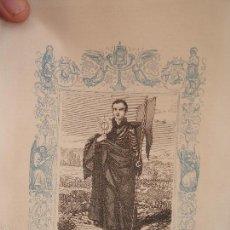 Arte: REF: KK - AÑO 1863 ORIGINAL GRABADO DE LA EPOCA RELIGIOSO - SAN IGNACIO DE LOYOLA FUNDADOR. Lote 57302146