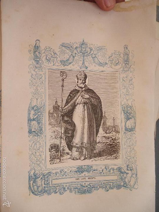 REF: KK - AÑO 1863 ORIGINAL GRABADO DE LA EPOCA RELIGIOSO - SAN LUIS OBISPO (Arte - Arte Religioso - Grabados)