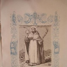 Arte: REF: KK - AÑO 1863 ORIGINAL GRABADO DE LA EPOCA RELIGIOSO - SAN RAMON NONNATO , CONFESOR. Lote 57302946