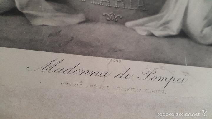 Arte: LITOGRAFIA RELIGIOSA AVE MARIA - MADONNA DI POMPEI - Foto 2 - 57299203