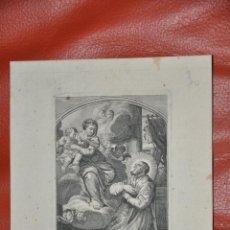 Arte: GRABADO ORIGINAL DE POILLY , SANTUS PHILIPPUS NERIUS , SAN FELIPE NERI ,PARIS. Lote 57323454