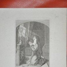 Arte: GRABADO ORIGINAL , ST. CLAIRE , FRANCIA , PARIS , RELIGIOSO . Lote 57323511