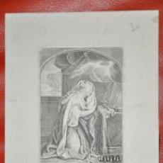Arte: GRABADO ORIGINAL , MARIA MAGDALENA , FRANCIA , RELIGIOSO , MARIE MADELEINE . Lote 57324370