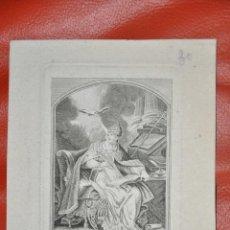 Arte: GRABADO ORIGINAL , SAN GREGORIO , FRANCIA , RELIGIOSO , SAINT GREGOIRE . Lote 57324400