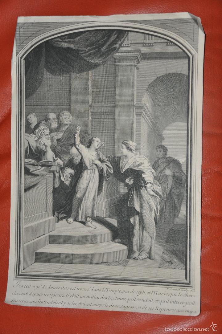 JEAURAT GRABADO ORIGINAL DE 1715 (Arte - Arte Religioso - Grabados)