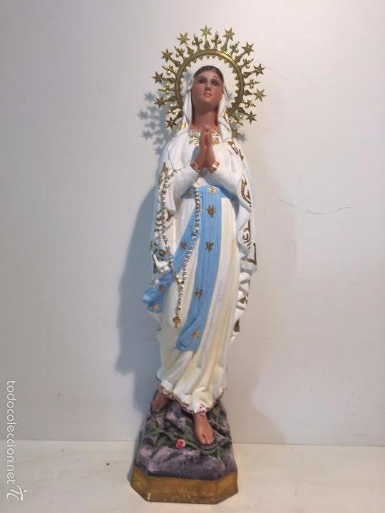 VIRGEN DE LOURDES ESTUCO, 46CM. (Arte - Arte Religioso - Escultura)