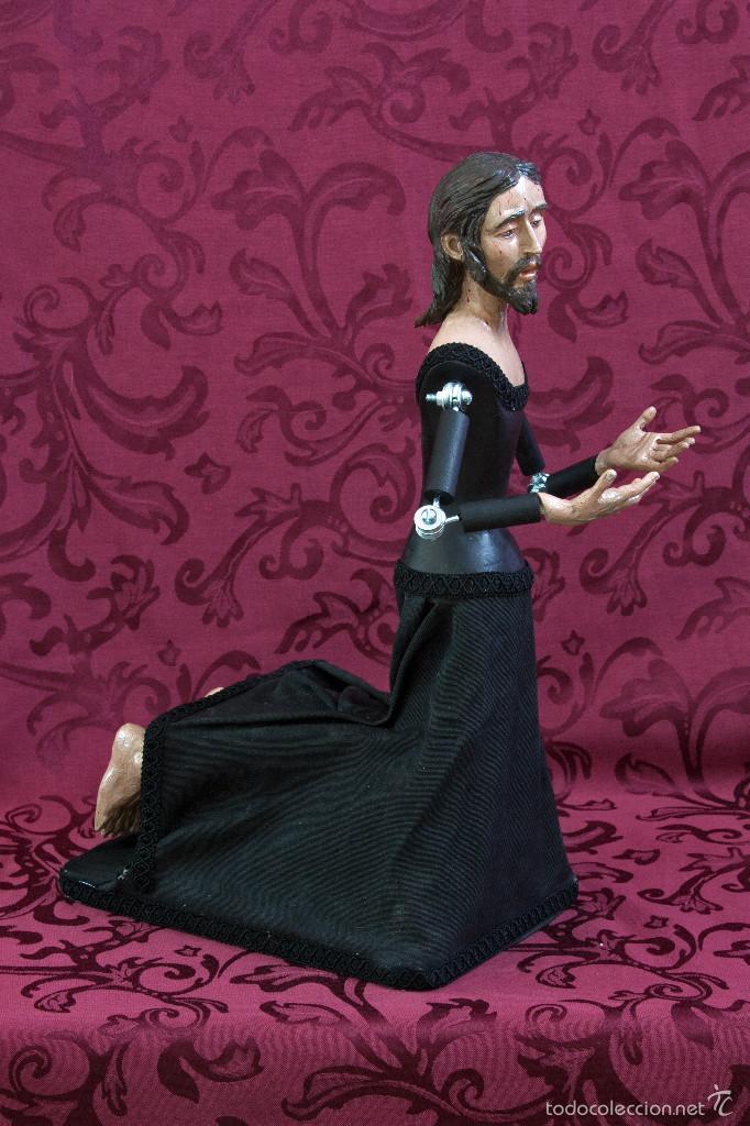 Arte: Bonito cristo de rodillas orando de 43 ctm de altura para vestir. - Foto 2 - 57399730