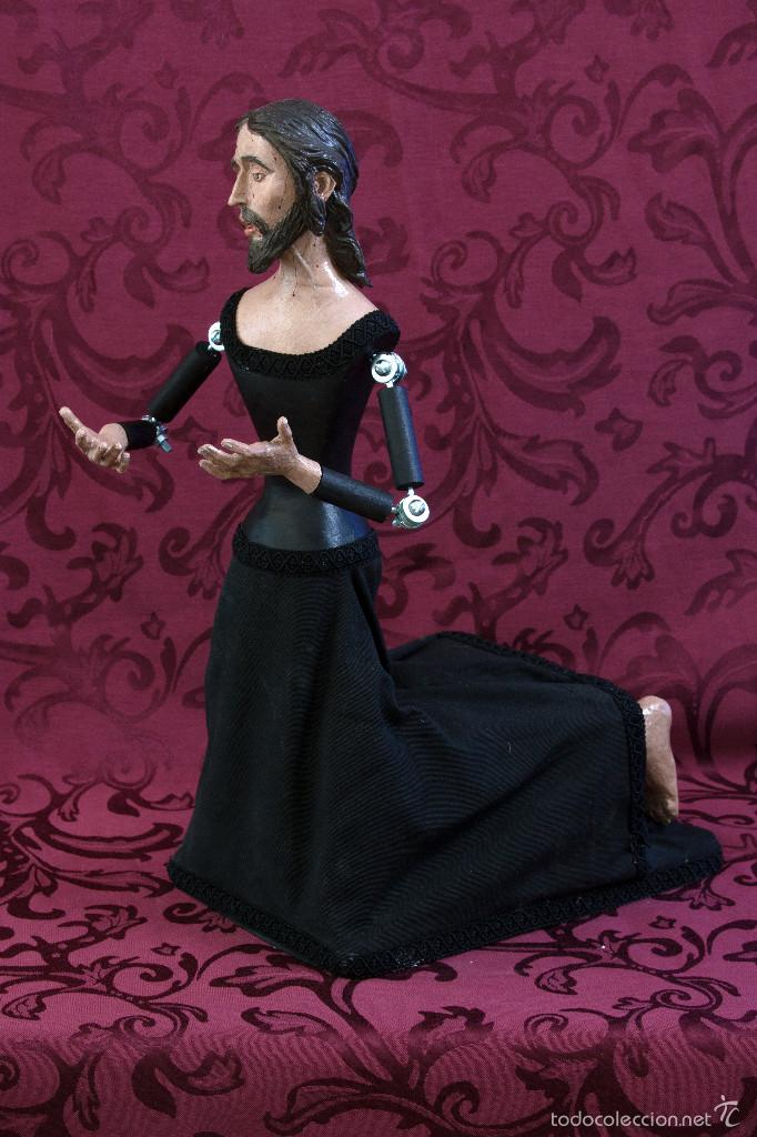Arte: Bonito cristo de rodillas orando de 43 ctm de altura para vestir. - Foto 4 - 57399730
