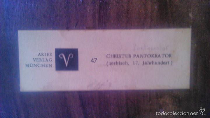 Arte: Retablo christus pantokrator.aries verlag munchen.47(serbisch,17.jahrhundert).lamina sobre tabla. - Foto 3 - 57402831