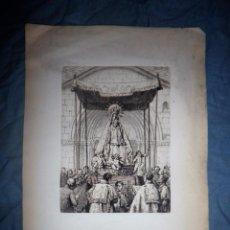 Arte: ANTIGUO GRABADO DE LA VIRGEN DEL PILAR - SIGLO XIX.. Lote 57429787