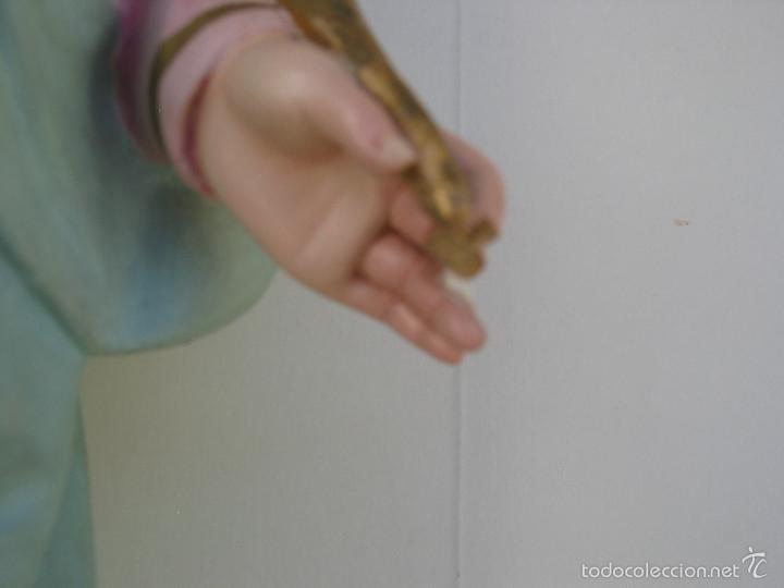 Arte: ANTIGUA ESCULTURA DE SANTA LUCIA. OLOT. PRIMERA EPOCA. EL ARTE CRISTIANO - GRAN TAMAÑO - Foto 11 - 57475900
