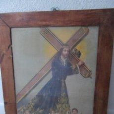 Arte: ANTIGUA LITOGRAFIA ENMARCADA NUESTRO PADRE JESUS NAZARENO 42,5 X 52 CM. Lote 96056090