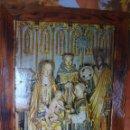 Arte: COLEGIATA DE COVARRUBIAS FRAGMENTO DEL RETABLO EPIFANÍA CARTEL TURÍSTICO AÑOS 70 ESPAÑA ENMARCADO. Lote 57525636