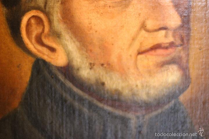 Arte: PRECIOSO OLEO SOBRE LIENZO SOBRE TABLA DE UN SANTO - POSIBLEMENTE SAN IGNACIO DE LOYOLA - 62X45CM - - Foto 6 - 57545202