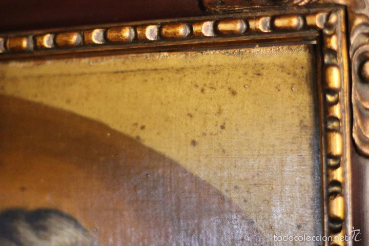 Arte: PRECIOSO OLEO SOBRE LIENZO SOBRE TABLA DE UN SANTO - POSIBLEMENTE SAN IGNACIO DE LOYOLA - 62X45CM - - Foto 8 - 57545202