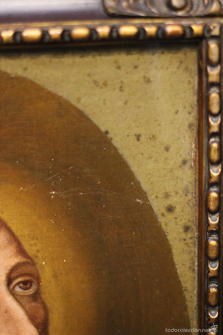 Arte: PRECIOSO OLEO SOBRE LIENZO SOBRE TABLA DE UN SANTO - POSIBLEMENTE SAN IGNACIO DE LOYOLA - 62X45CM - - Foto 9 - 57545202