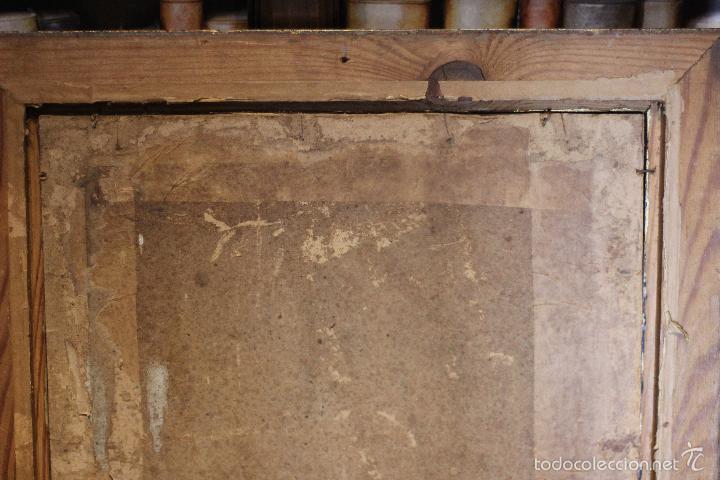 Arte: PRECIOSO OLEO SOBRE LIENZO SOBRE TABLA DE UN SANTO - POSIBLEMENTE SAN IGNACIO DE LOYOLA - 62X45CM - - Foto 14 - 57545202