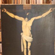 Arte: TREMENDO OLEO SOBRE LIENZO DEL CRISTO DE ZURBARÁN - 124 X 85 CM - BUEN ESTADO - SOBRE BASTIDOR -. Lote 57584236