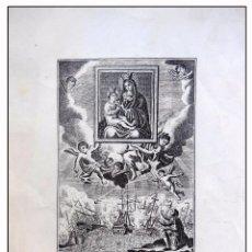 Arte: ANTIGUA LITOGRAFÍA ORIGINAL : NTRA SRA DEL REMEDIO Y D JUAN DE AUSTRIA. Lote 57613755
