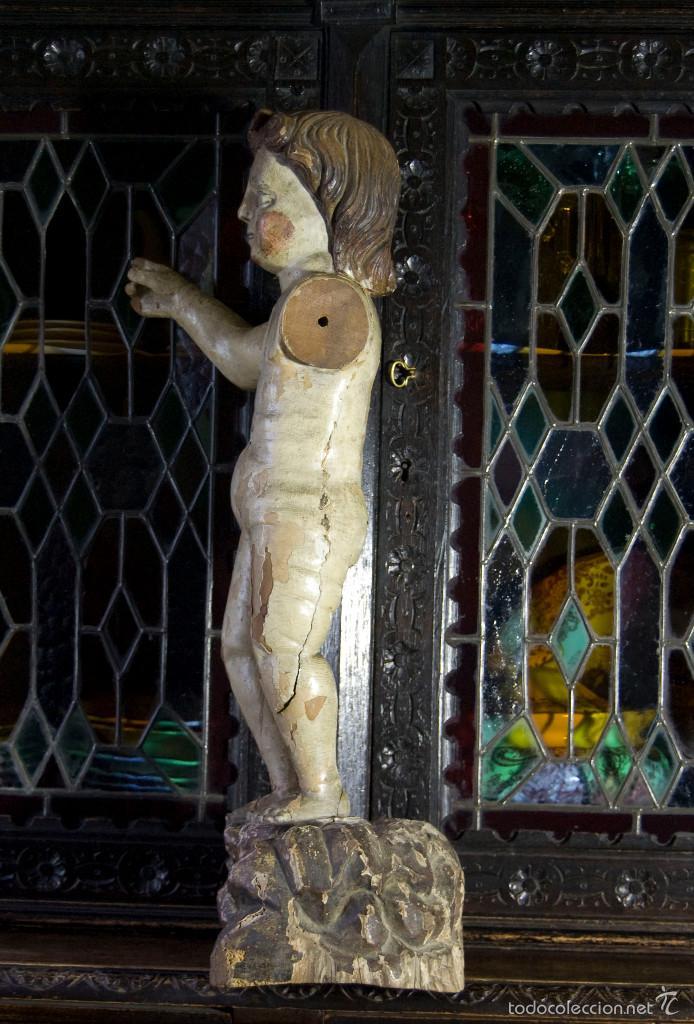 Arte: TALLA ESCULTURA RELIGIOSA SAN JUANITO SIGLO XVII - Foto 2 - 146977550