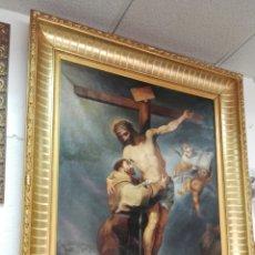Arte: ABRAZO DE SAN FRANCISCO AL CRUCIFICADO. Lote 57649447